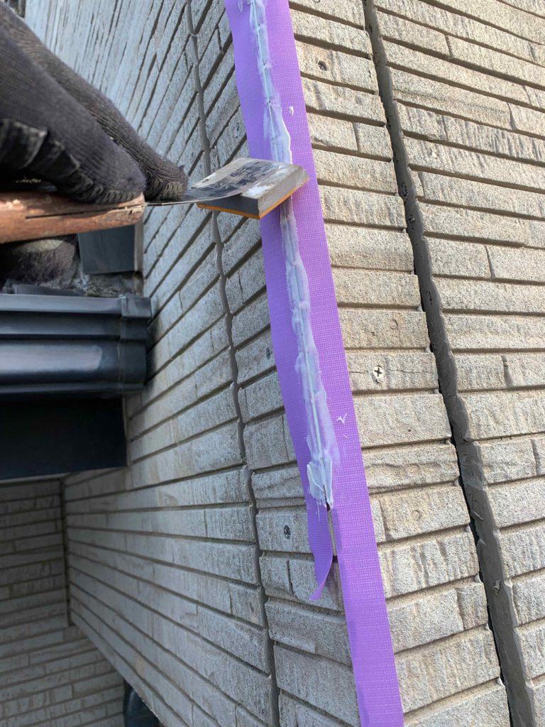 外壁補修工事2日目 御船町K様邸