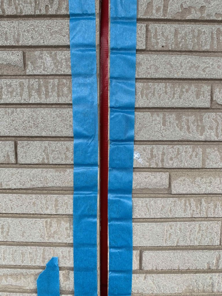 外壁補修工事3日目 シーリング準備工 御船町K様邸