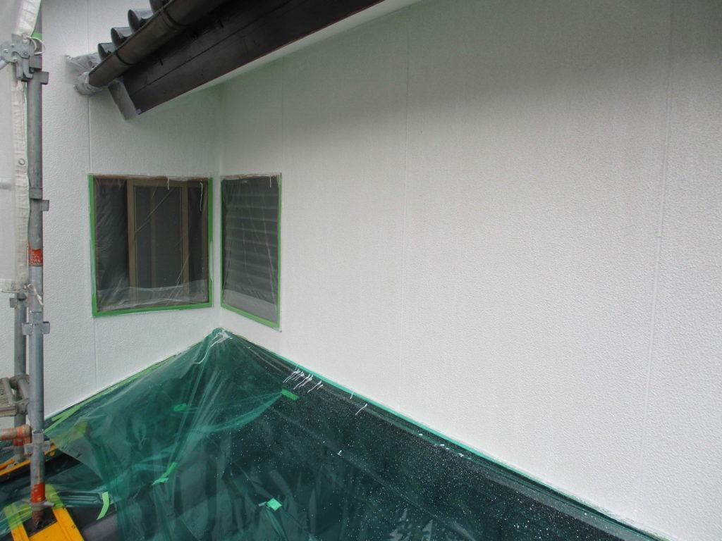 熊本市東区U様邸 外壁塗装下塗り