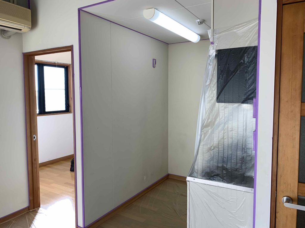 熊本市東区H様 貸家内部塗装準備