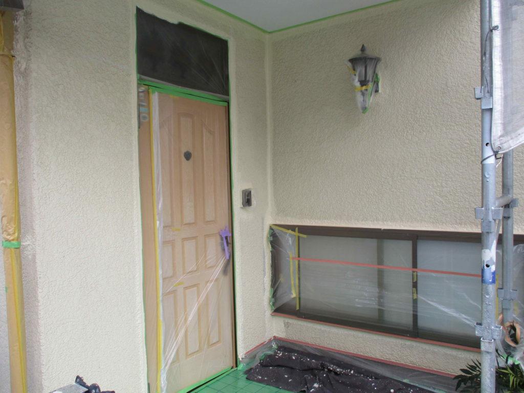 熊本市東区T様邸 外壁塗装状況