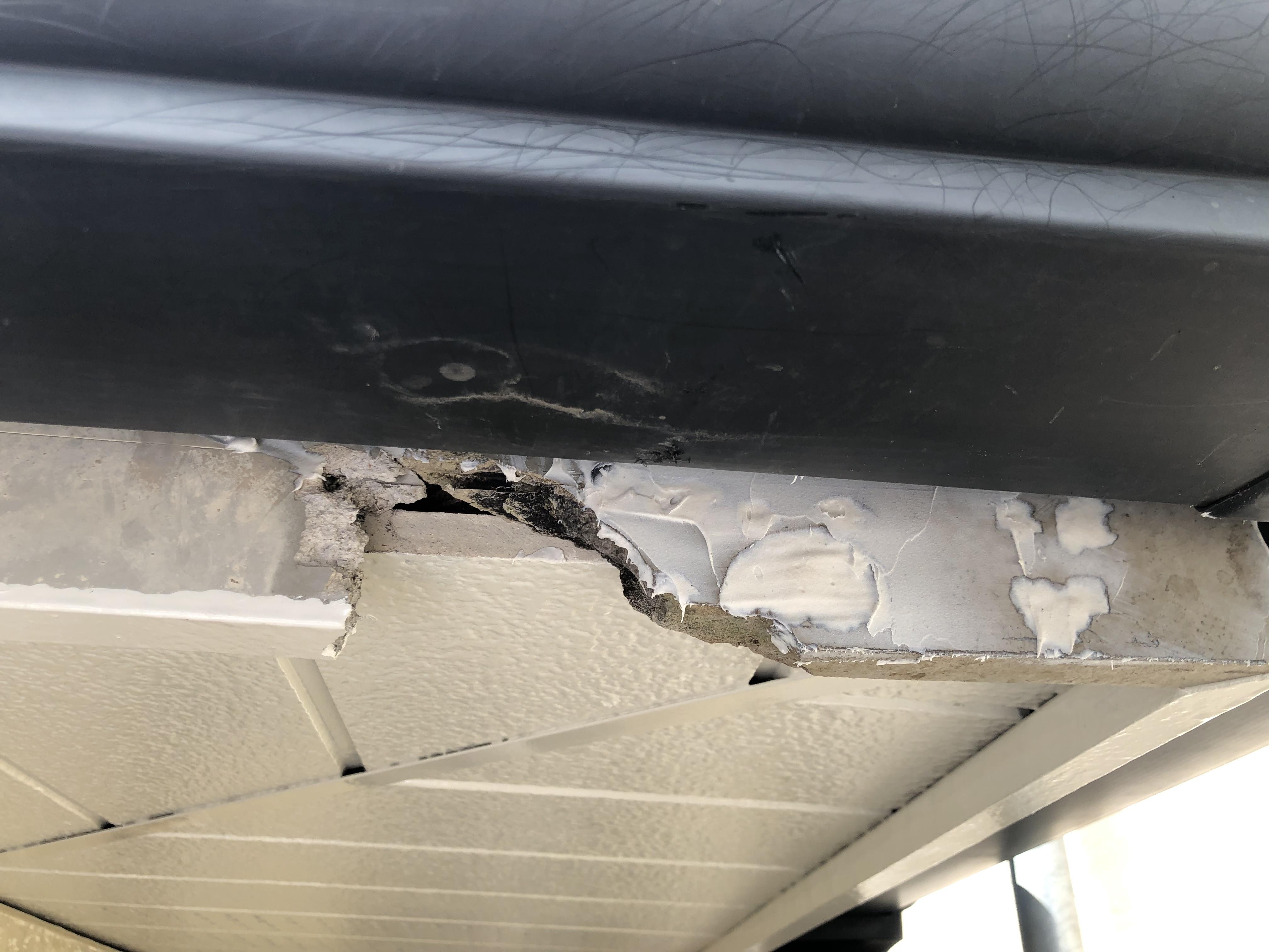 幕板欠損部分補修