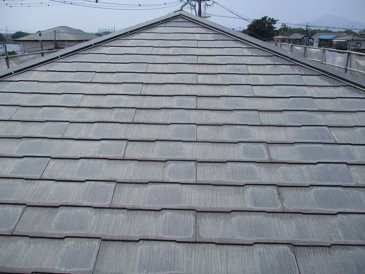 コロニアル屋根(カラーベスト)の色あせ・劣化