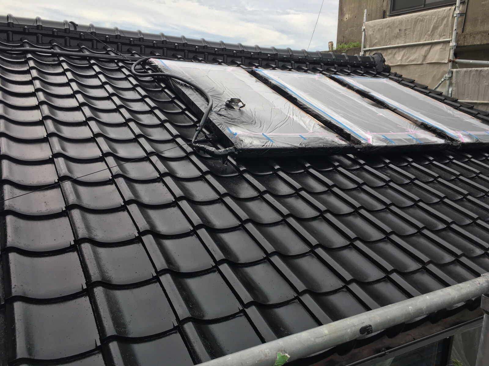 屋根塗装工事終了