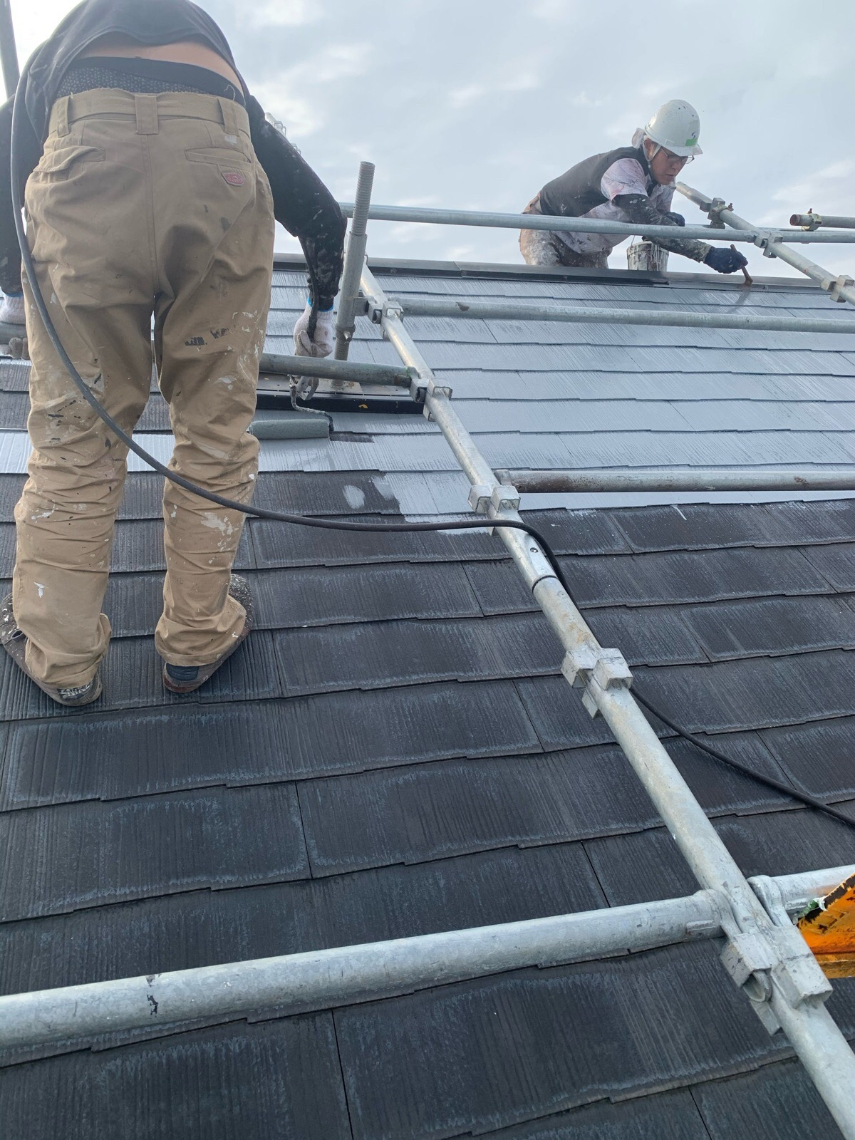 屋根プライマー塗装工事