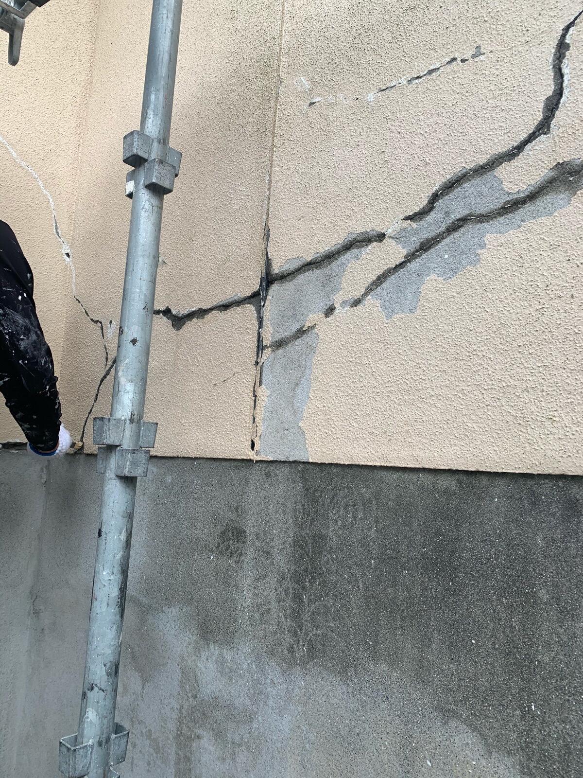 モルタル外壁補修工事
