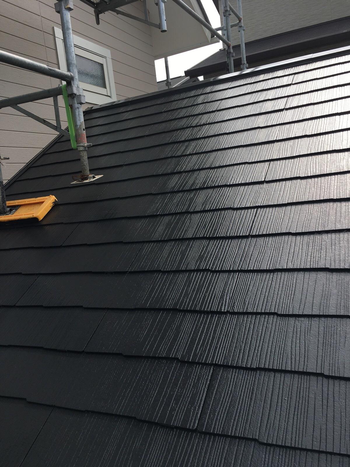 屋根塗装終了