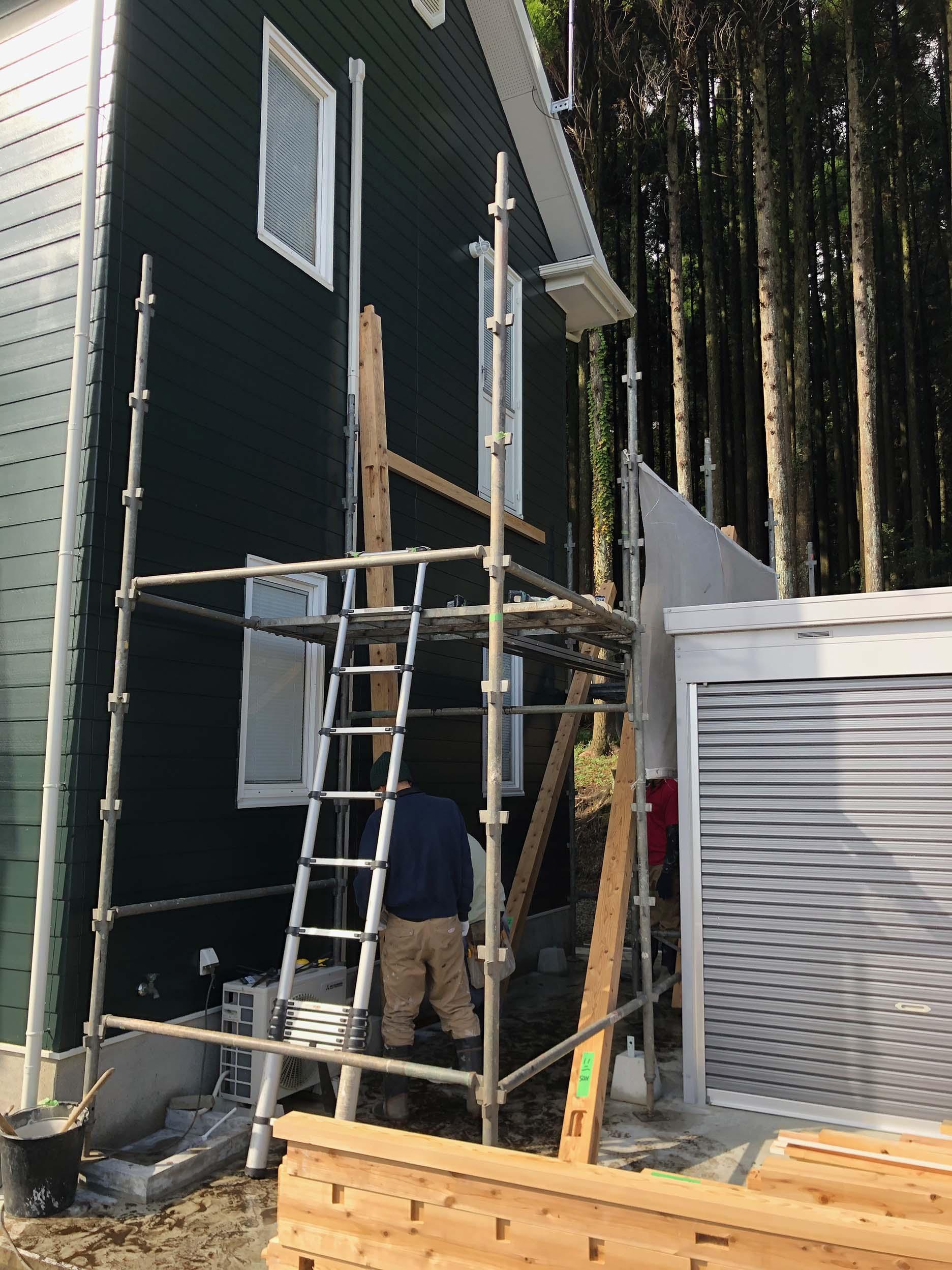 木製テラス設置工事