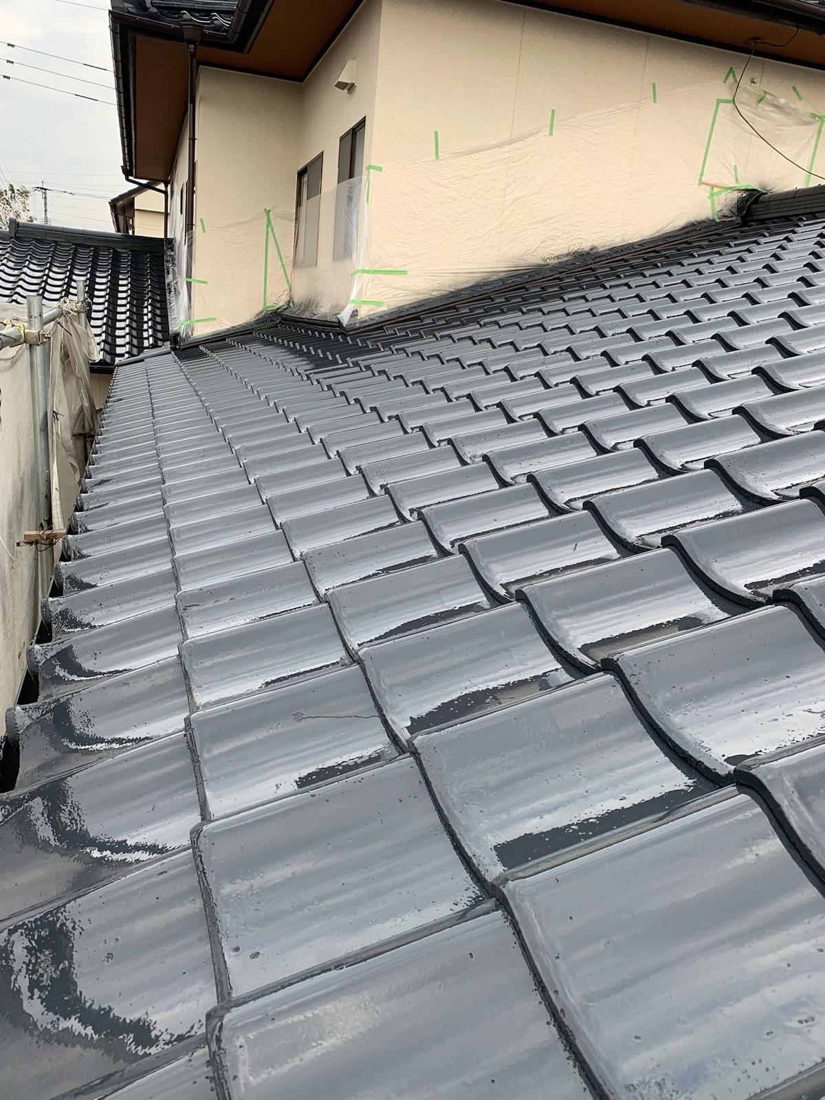 屋根塗装下塗り