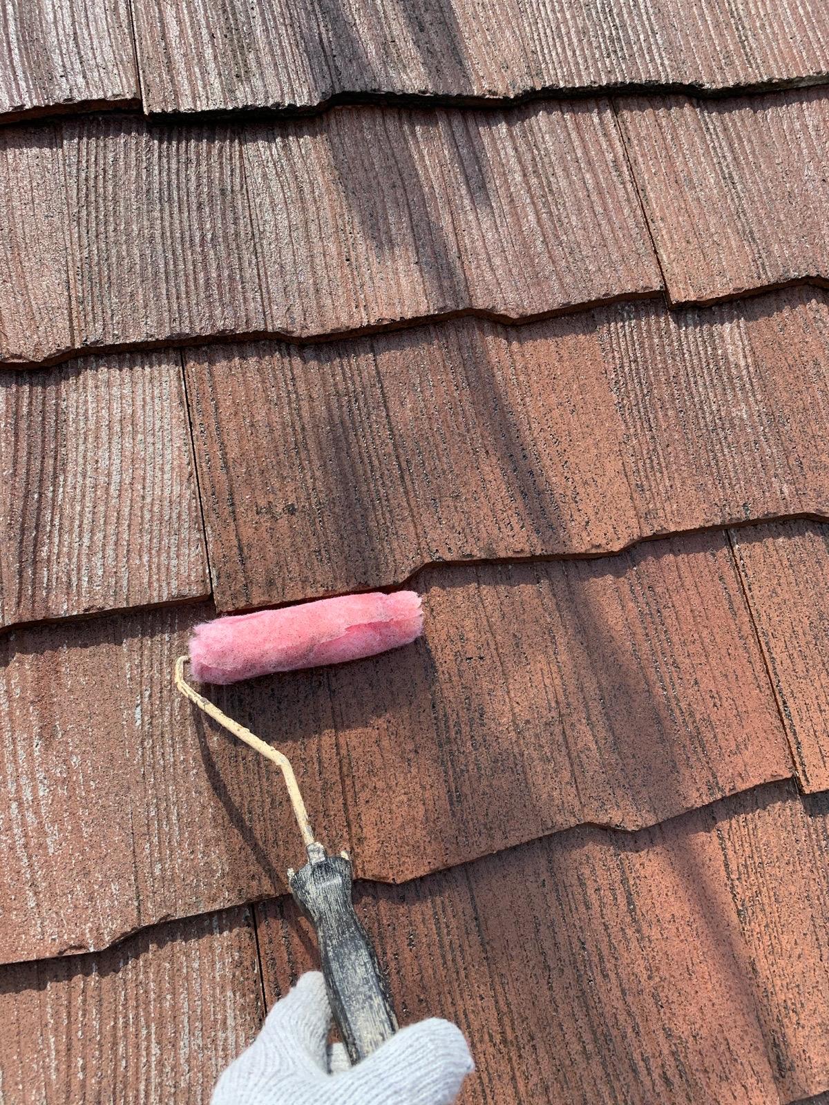 屋根プライマー処理
